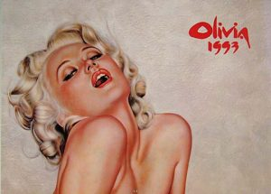 Pin-up Art Calendar by Olivia 1993 Collectible